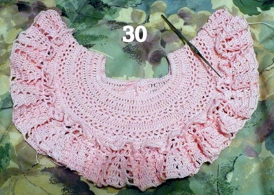 Рукоделие детское платьице вязаное