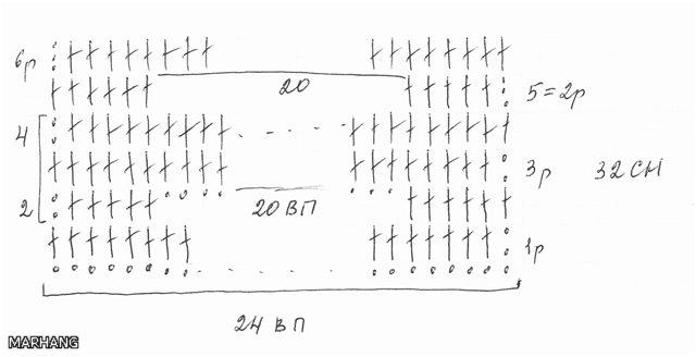 Схемы вязания спицами колосок 86