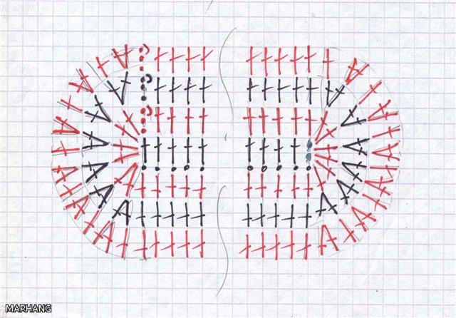 Прямоугольные и овальные полотна, связанные от середины
