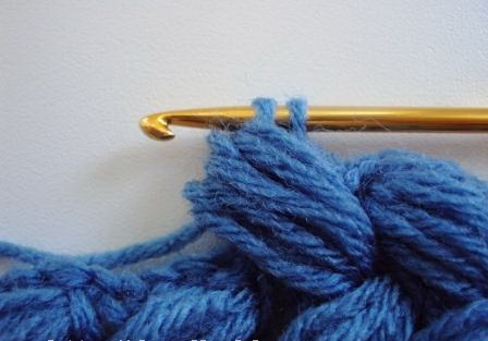Объемный плетеный узор крючком