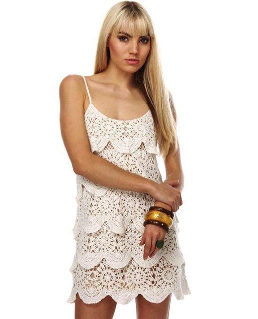 Платье с оборками крючком (Мастер-класс)
