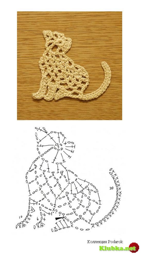 Плоское вязание фигурок крючком