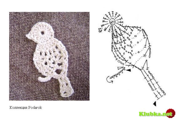 Схемы для вязания крючком животные 10