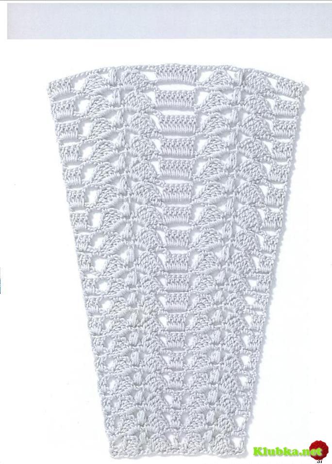 Образцы крючком для юбок