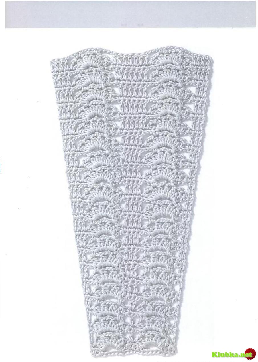 узор крючком на платье юбку схема