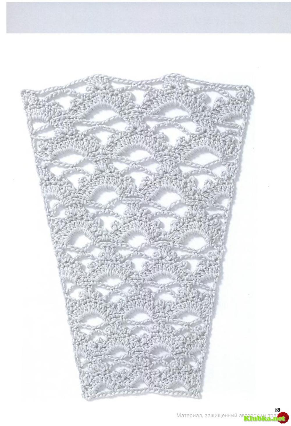 схемы вязания платьев для девушки