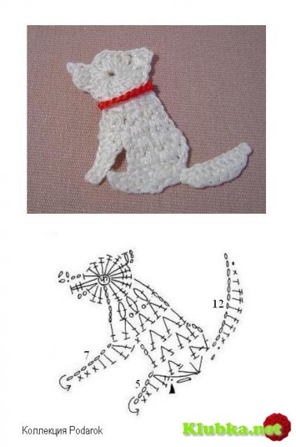 Схемы для вязания крючком животные 97