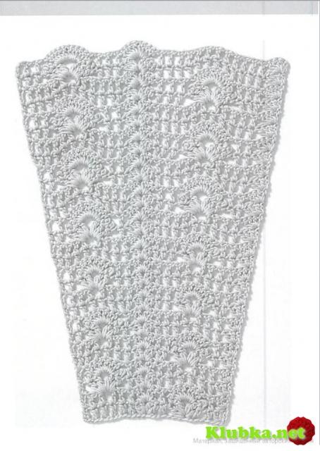 0847_Схема_узора, Крючком узоры для расширения полотна.
