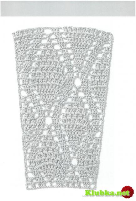 0857_Схема_узора, Крючком узоры для расширения полотна.