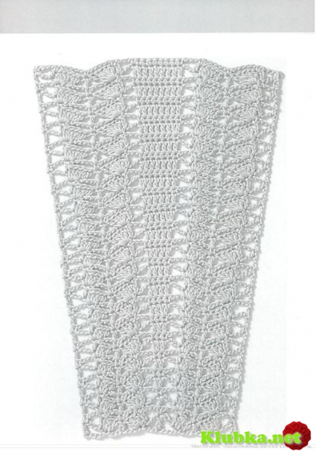 Схемы узоров для расширения полотна , для платьев, юбок и круглой кокетки (крючок)