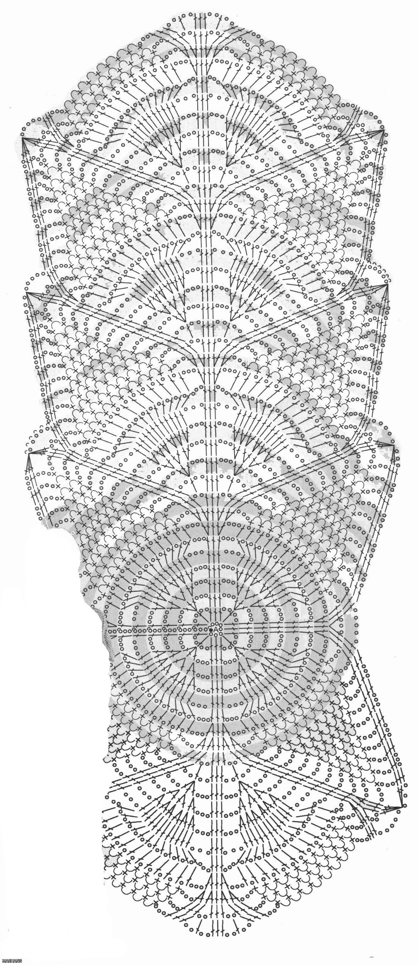Шарфик крючком схемы зима модные