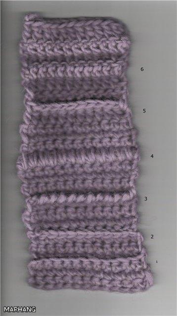 Рельефные полоски (выпуклости) на полотне