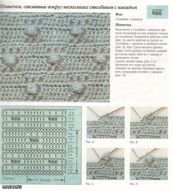 шишечки вокруг нескольких столбиков с накидом