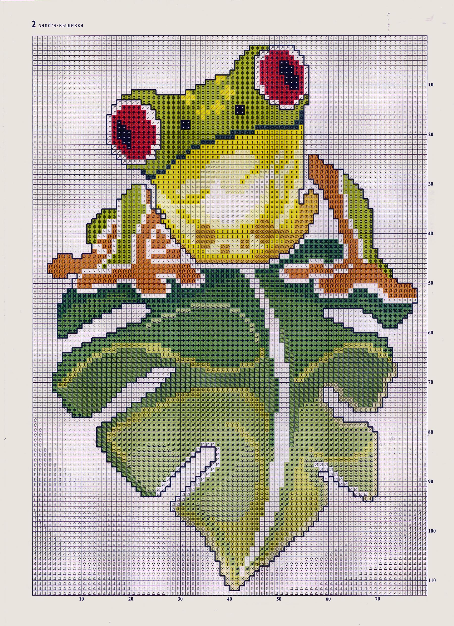 Схемы вышивки крестиком лягушки и жабы 100