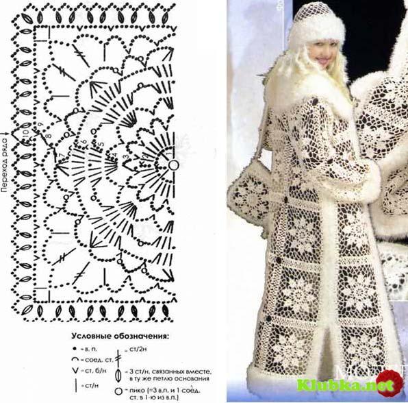 "Комплект ""Снегурочка"" крючком"