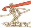 Перекрещенный столбик с накидом