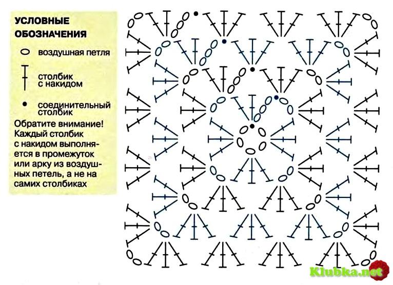 """Схема вязания """"бабушкиного"""
