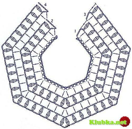 Накидка-палантин крючком