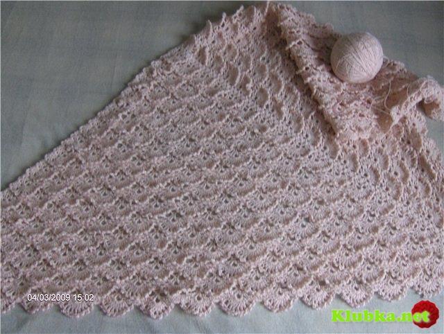 Рельефный узор для шали