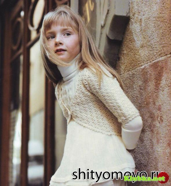 Для юных модниц: болеро крючком
