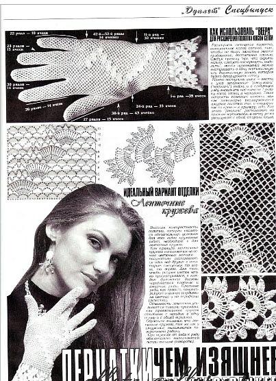Коллекция ажурных перчаток