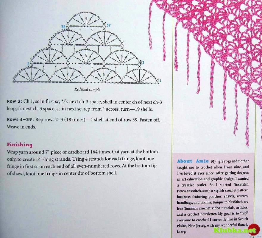 Вязание простые шали 8