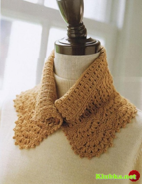 Воротник-шарф крючком