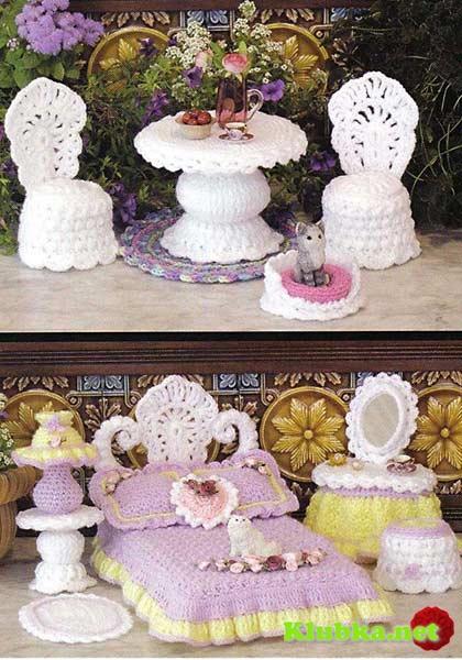 Ажурная мебель для Барби