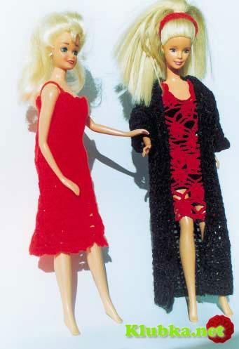 Два платья и кардиган для куклы