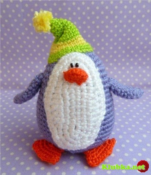Амигуруми пингвин крючком