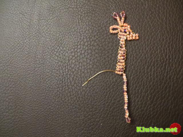 """Жираф """"Тоша"""" из бисера"""