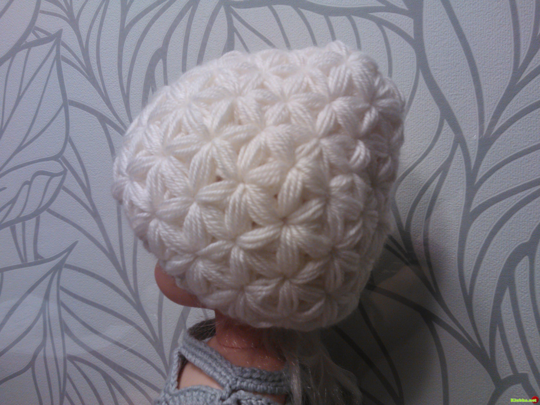 Вязание шапок крючком узор звездочка