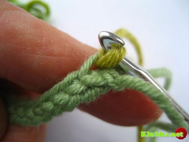Вязание листика