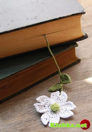 Закладки для книжки из цветочков крючком