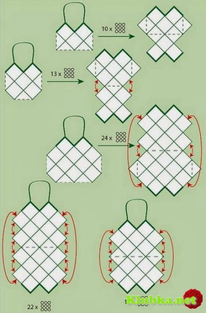 Сумки из квадратных мотивов