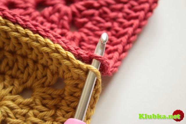 Вязание крючком - Присоединение