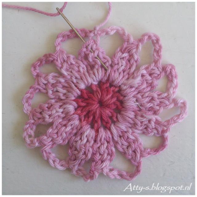 Sunkissed Flower. Фото-МК мотива и соединения мотивов.