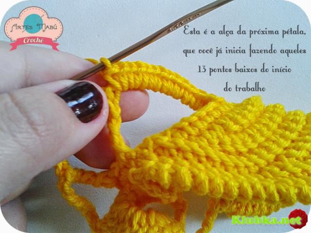 Вязание крючком цветка