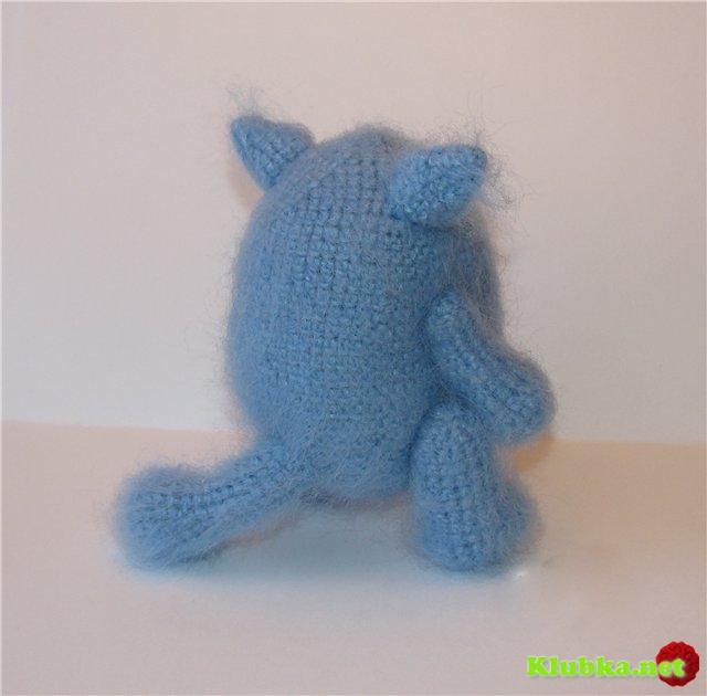 Вязаный крючком кот Об-Жорик