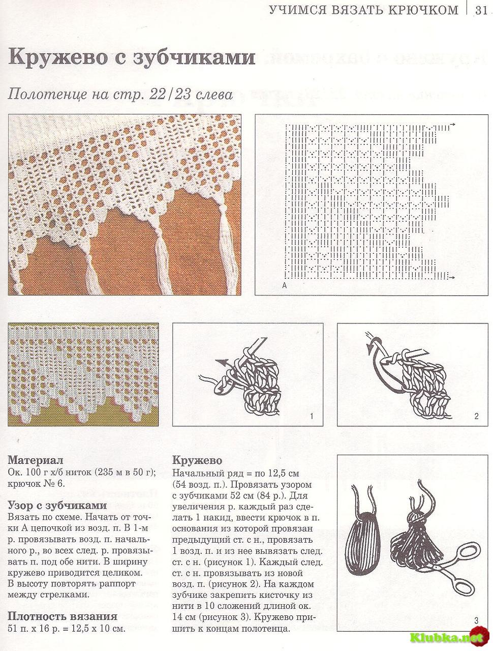 Схема кружева для салфетки
