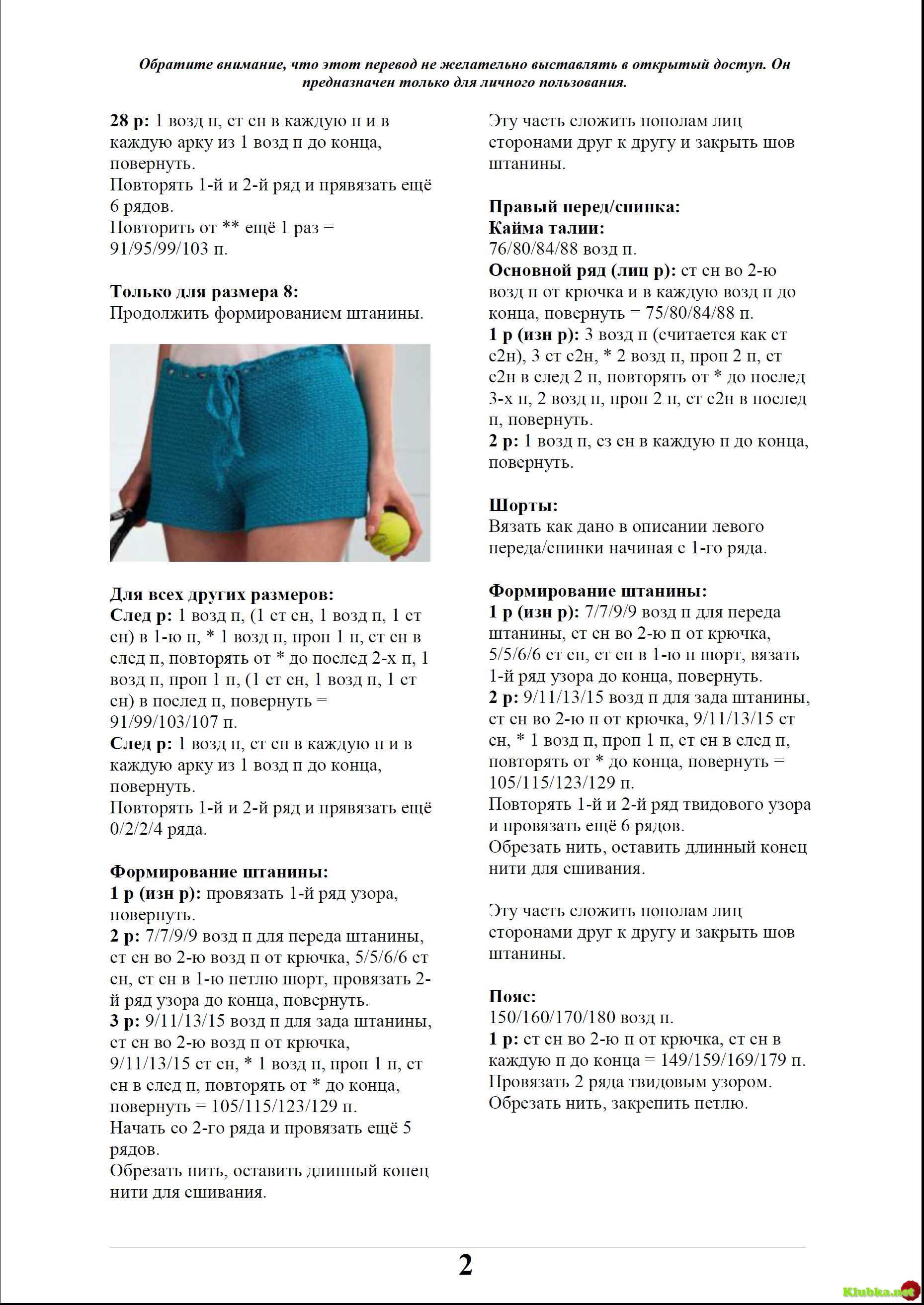Вязаные шорты крючком схемы и описание синего цвета с цветами