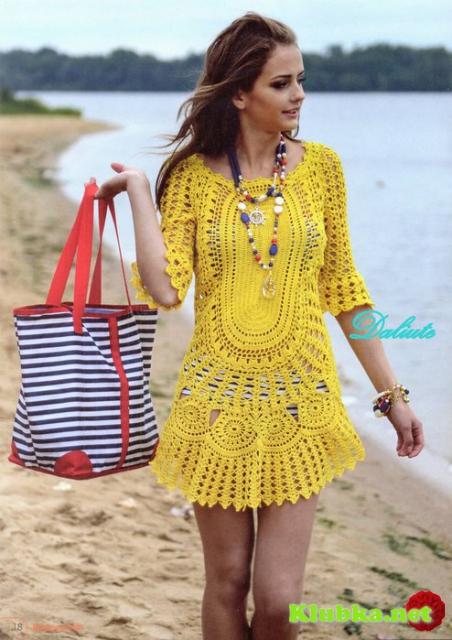 Солнечное платье - туника крючком