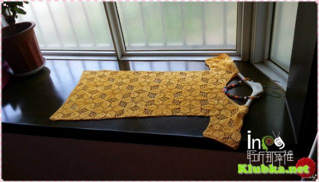 Летнее платье или длинная туника из ажурных мотивов