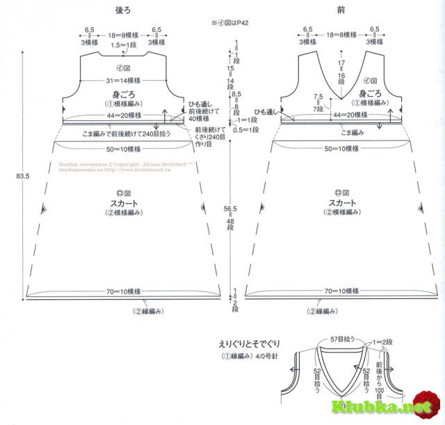 Туника крючком ...от Ondori I love aran kint (Япония)