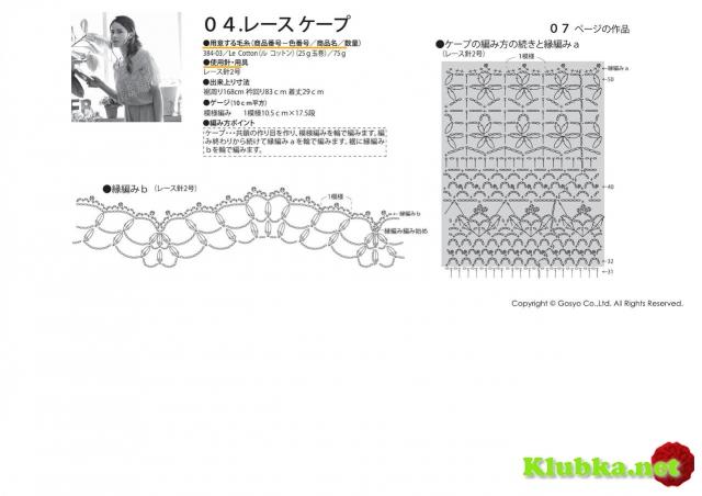 Японская кружевная накидка