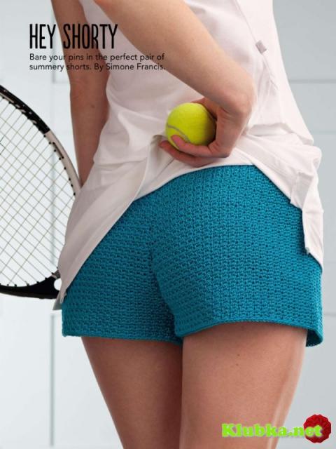 Вязанные крючком тенисные шорты