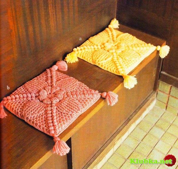 Вязание крючком накидки для подушек