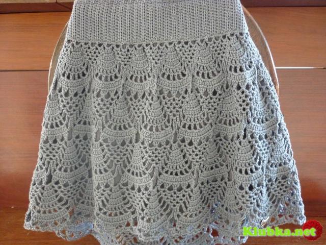 Модная юбка для девушки крючком
