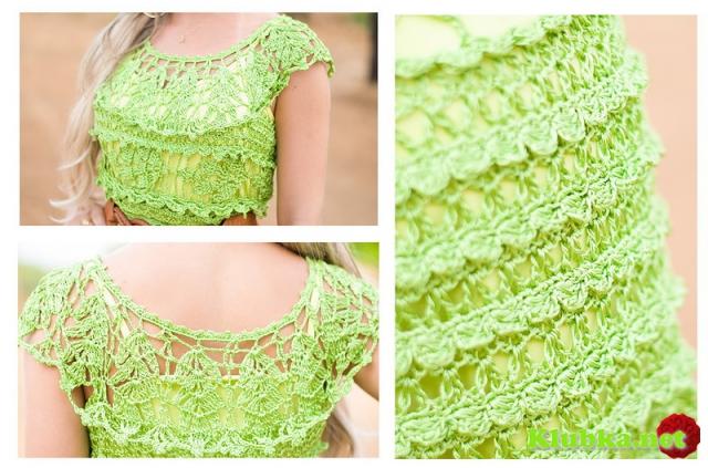 Бразильская Гевея - платье крючком