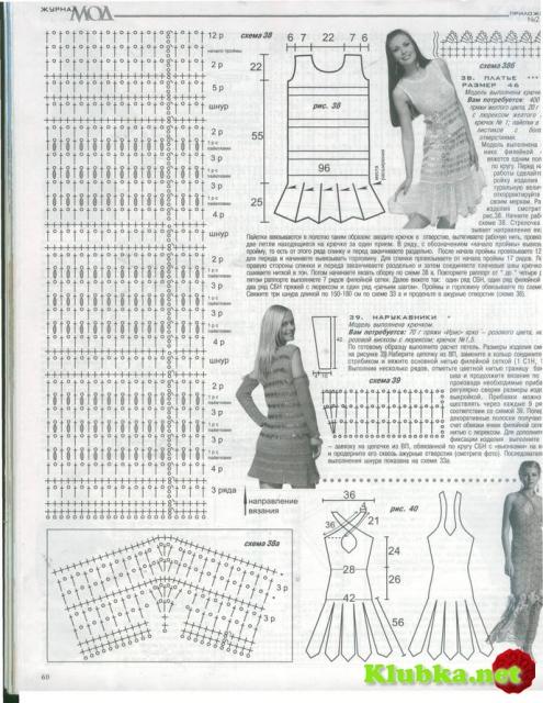 Платья зигзагом